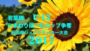 若葉旗・ひまわりほーむカップ争奪 第33回石川県ジュニアサッカー大会 U-12 組合せ発表!5/21~開催!