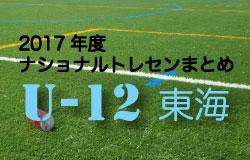 2017年度 ナショナルトレセンU-12 東海まとめ