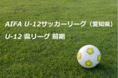 2017年度 AIFA U-12サッカーリーグ(愛知県) U-12 県リーグ 後期 開催中!結果の入力にご協力ください!