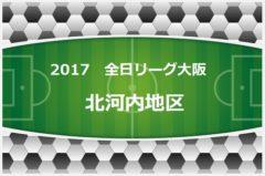 2017年度 U-12リーグ(全日リーグ)第41回全日本少年サッカー大会・大阪府予選 北河内地区 開催中