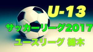 U-13 サッカーリーグ 2017 ユースリーグ栃木 結果速報10/21!