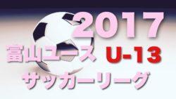 富山県ユース(U-13)サッカーリーグ2017 1部リーグ優勝はカターレ富山!2部リーグ12/9結果速報!