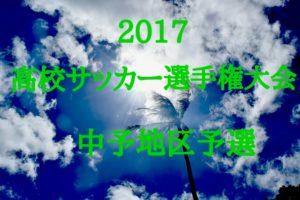 2017 平成29年度 第96回 高校サッカー選手権大会【中予地区予選会】中予地区代表決定!