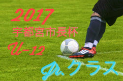 2017 平成29年第43回宇都宮市長杯少年サッカー大会U-10 ジュニアクラス 組合せ決定!!9/2~開催
