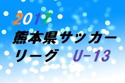 2017年度熊本県サッカーリーグU-13 開催中!試合結果の入力ができるようになりました