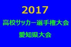 2017年度 第96回全国高校サッカー選手権大会 愛知県大会 1回戦の結果 次節10/21