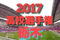 2017平成29年度第96回全国高等学校サッカー選手権大会 栃木大会 ベスト4決定! 準決勝は10/28!!