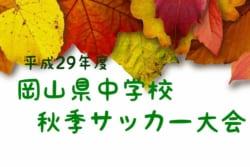 平成29年度 岡山県中学校秋季サッカー大会 優勝は総社東中学校!