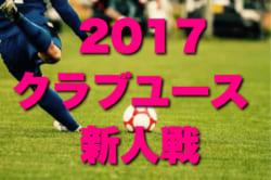 2017年度 兵庫県クラブユースサッカー(U-14)新人戦 10/28~開催!組み合わせ決定!