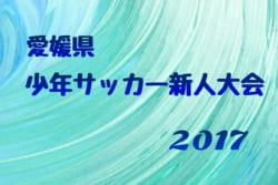 2017年度 第40回 愛媛県少年サッカー新人大会 U-11 優勝は帝人SS!