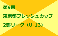 2017年度 第9回東京フレッシュカップ 2部(U-13)1次リーグ開催中!結果情報お待ちしています!