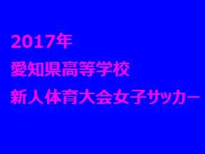 2017年 愛知県高等学校新人体育大会女子サッカー競技 1/20の結果 次節1/27
