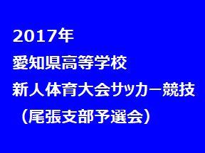 2017年 愛知県高等学校新人体育大会 サッカー競技 名北支部予選会 県大会出場校決定