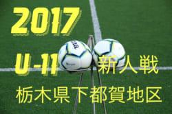 2017年度 第35回栃木県少年サッカー新人大会 下都賀予選大会 U-11 組み合わせ発表!12/16開催!