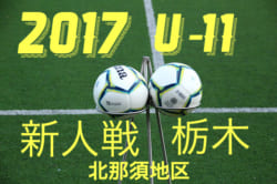 2017年度 第35回栃木県少年サッカー新人大会 北那須予選大会 U-11 組み合わせ発表!12/16~開催!