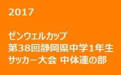 2017年度 ゼンウェルカップ 第38回静岡県中学1年生サッカー大会 中体連の部 1/13の結果 次節1/20-21