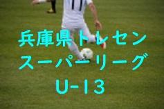 2017年度 第13回兵庫県トレセンスーパーリーグ(U-13)サッカー大会 優勝は1部・V神戸、2部・東播!3部情報提供お待ちしています!