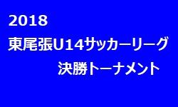 2018年 東尾張3種 U-14サッカーリーグ 決勝トーナメント 優勝は春木中学校