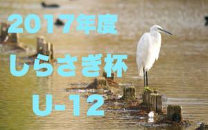 2017年度 第33回 しらさぎ杯少年サッカー大会 U-12 組み合せ決定!2/24.25開催!