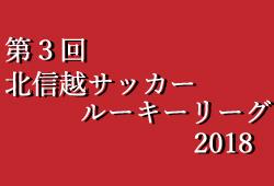 第3回北信越サッカールーキー(U16)リーグ2018 4/14(土)開幕結果更新♪ 次節4/21(土)開催!