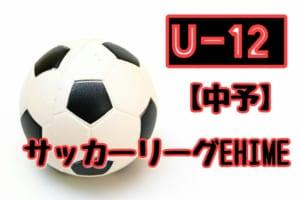 2018年度 JFA U-12サッカーリーグEHIME【中予リーグ】前期ブロック結果掲載!
