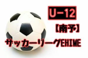2018年度 JFA U-12サッカーリーグ EHIME南予リーグ 4/15結果更新!次回4/29!