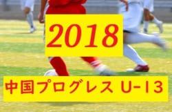 2018中国プログレスリーグU-13結果速報!6/23.24情報おまちしてます♪