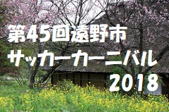 【岩手県】第45回遠野市サッカーカーニバル2018 優勝は北上中!情報お待ちしております!