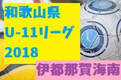 2018年度 JFA U-11サッカーリーグ2018和歌山(ホップリーグ)伊都那賀海南ブロック(第4回U-11リーグ) 5/26(土)結果速報!次節の情報提供お待ちしています!
