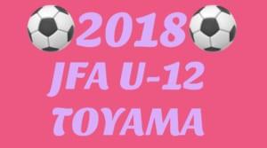 JFA U-12サッカーリーグ2018富山 リーグ表掲載!4/21~開幕!!