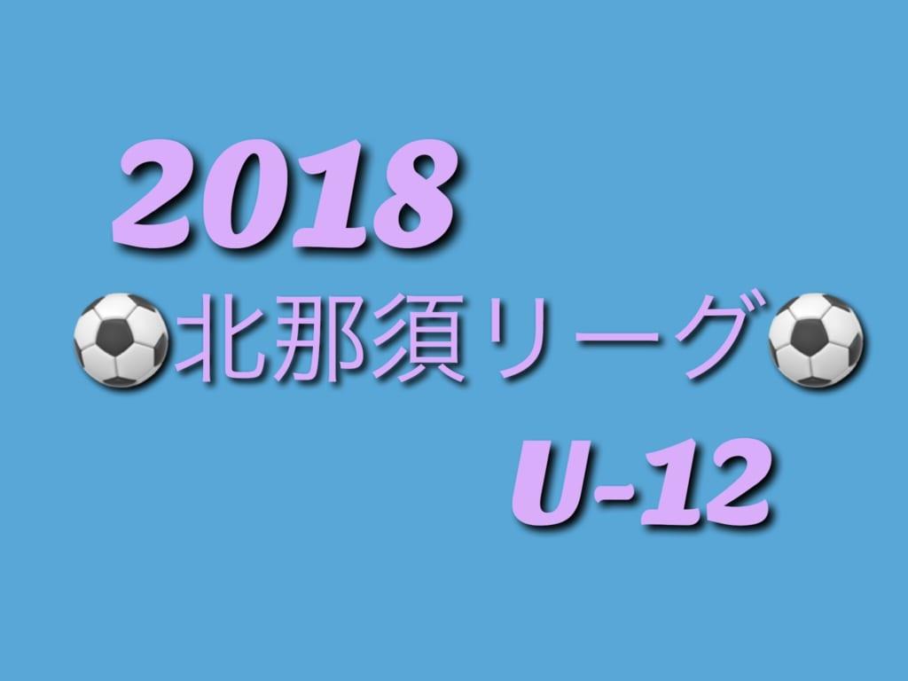 2018年度 第4回 那須塩原市サッカー協会少年サッカーリーグ兼北那須地域リーグU-12 前期終了!リーグ表へのご入力お願いします!!
