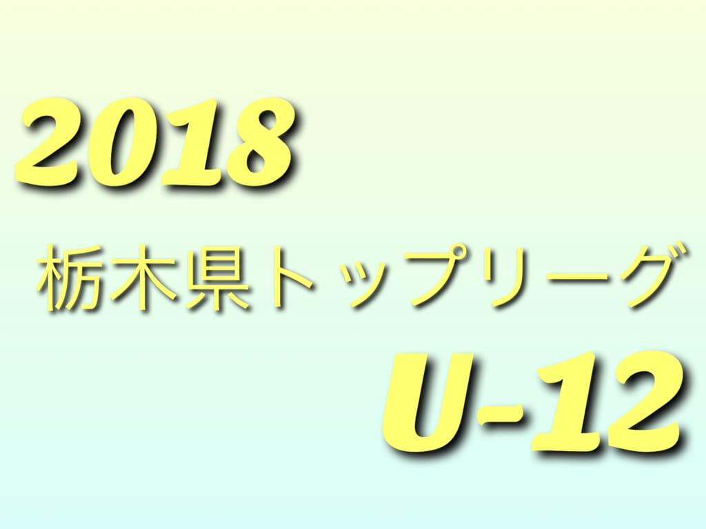 JFA U-12サッカーリーグ2018(in栃木)栃木県少年サッカートップリーグ戦(前期)4/22暫定順位!次は4/28!