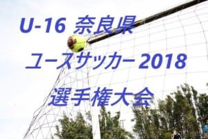 U-16 奈良県ユースサッカー 2018 選手権大会 準々決勝結果!準決勝は7/28!