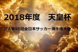 5/26,27 1回戦組合せ!14大学が本戦出場!天皇杯JFA第98回全日本サッカー選手権大会2018