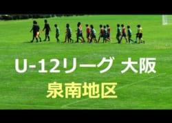 2018年度 U-12リーグ 第42回全日本少年サッカー大会 泉南地区 6/10結果更新!
