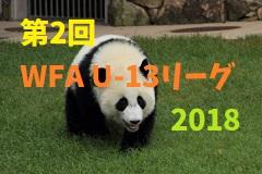 第2回 和歌山県 WFA U-13サッカーリーグ 2018 7/21(土)第3節結果速報!情報提供お待ちしています!