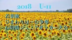 2018年度 若葉旗・ひまわりほーむカップ争奪 第34回 石川県ジュニアサッカー大会 U-11 6/24ベスト準決勝は7/1!