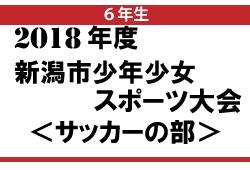 2018年度 新潟市少年少女スポーツ大会6年生の部【ベスト4決定!】準決勝は、7/21開催!