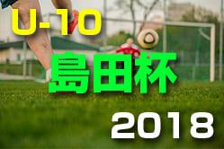 2018年度 島田杯 第47回 富山県少年サッカー交歓会 ベスト4決定!次回9/23!
